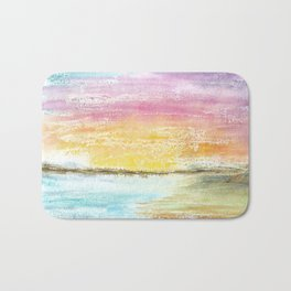 Magic Sunset Watercolor Art Bath Mat