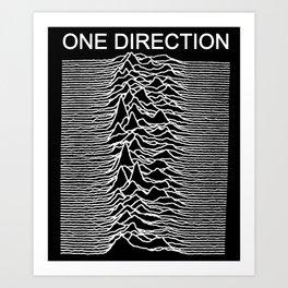 One Direction / Joy Division's Unknown Pleasures Art Print
