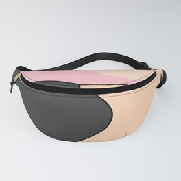 Happy Place - Black Pink Fanny Pack