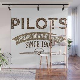 Pilot Proud Aviation Lover Gift Idea Wall Mural