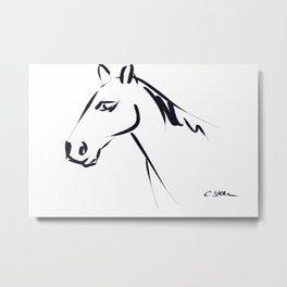 A Simple Horse DP161215a Metal Print