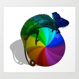 Spinning Beach Ball of Death Chameleon Art Print