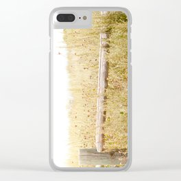 Travel photography Spring fence I Clear iPhone Case