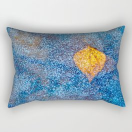 Yellow leaf under the ice Rectangular Pillow