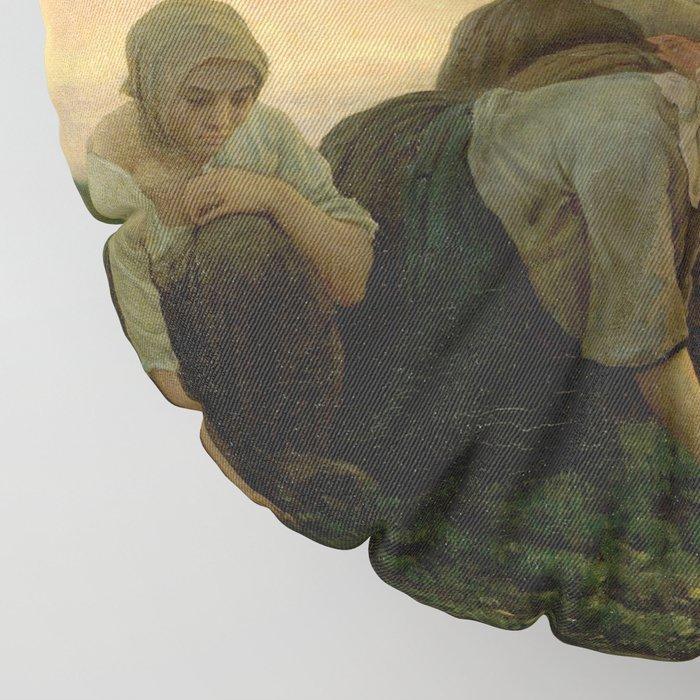 Jules Breton - The Weeders Floor Pillow