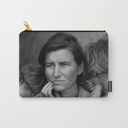 Vintage Photograph of Migrant Mother Carry-All Pouch