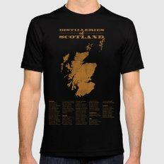 Distilleries of Scotland (woodpress) Black MEDIUM Mens Fitted Tee