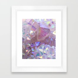 Pink Aura Crystals Framed Art Print