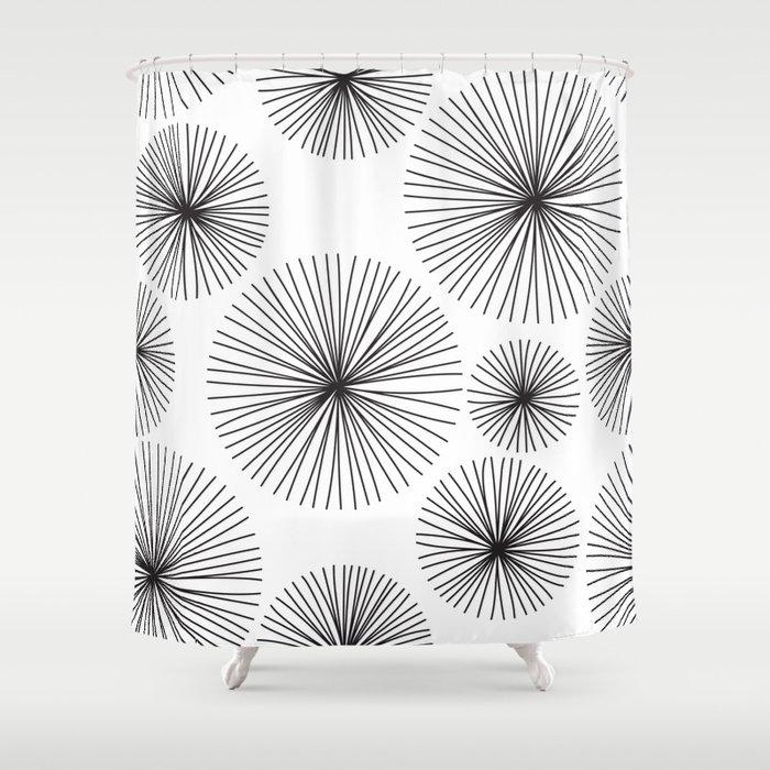 Whimsical Dandelion Shower Curtain