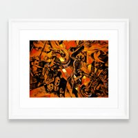 band Framed Art Prints featuring band by borma toyen