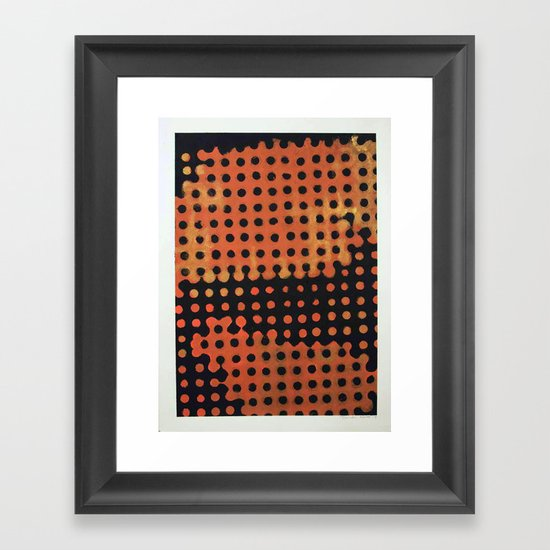 ORANGE HALFTONE Framed Art Print