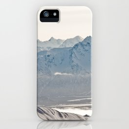 Talkeetna Mountains and Twin Peaks iPhone Case