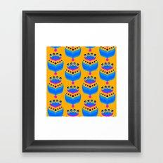 Mod Pop Blue Framed Art Print