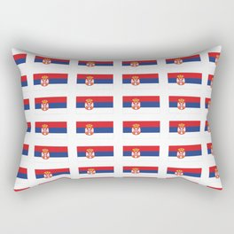 flag of Serbia 2-balkan,serbian,europe,yugoslavia, Pannonian,Belgrade,Novi Sad,nis,kragujevac Rectangular Pillow