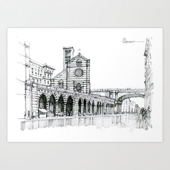 Via Venti Settembre , Genova Art Print
