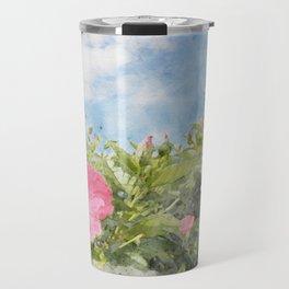 tropical vacation hibiscus Travel Mug