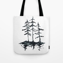 THE THREE SISTERS Black and White Tote Bag