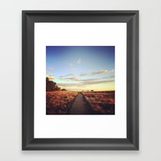 The road is narrow that leads to life… Framed Art Print