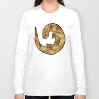 otter Long Sleeve T-shirts featuring Otter by Jackie Wyant