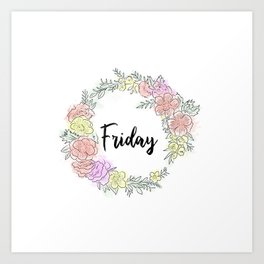 Friday fresh collection 2 Art Print