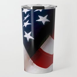 Waving American Flag Travel Mug