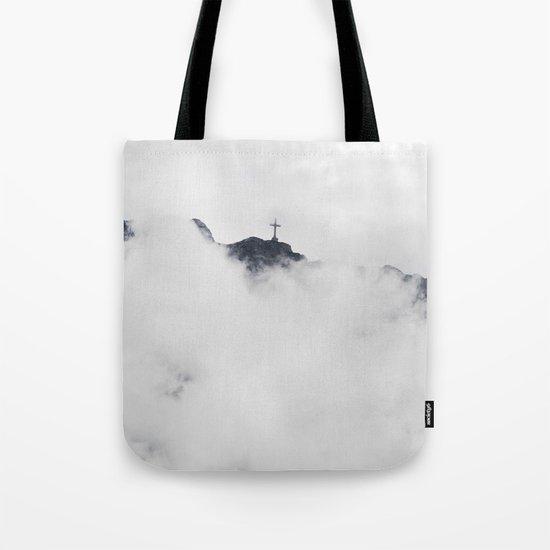Foggy Faith Tote Bag