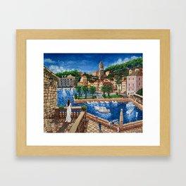 Port of Hvar, Croatia Framed Art Print