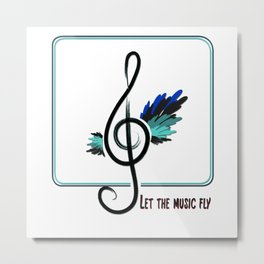 Let the music fly Metal Print
