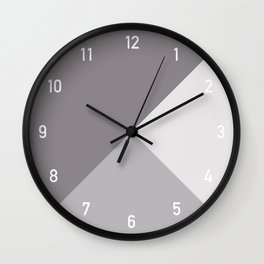 Numbers Clock Geometry Taupe Wall Clock