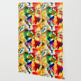 Kandinsky Green Center Wallpaper