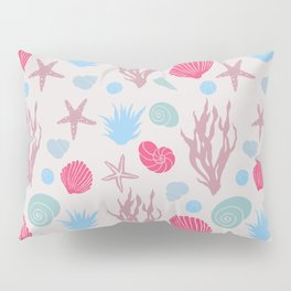 In the Sea - beige and magenta Pillow Sham