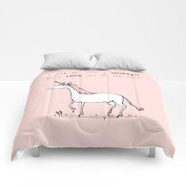 I Wish You Were A Unicorn Comforters