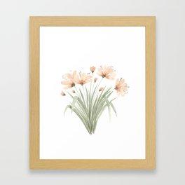 Watercolor Orange Lilies Framed Art Print
