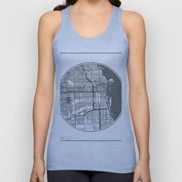 Chicago Map Universe Unisex Tank Top