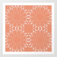 Peach Color Burst Art Print