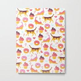 cat donut Metal Print