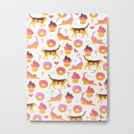 cat donut Metal Print
