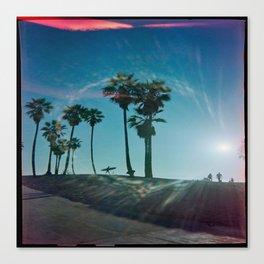 The solo surfer Canvas Print