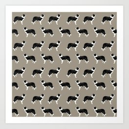 Border Collie dog pattern pet friendly dog art dog lover gifts with favorite dog breeds Art Print