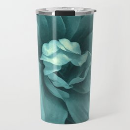Soft Teal Flower Travel Mug
