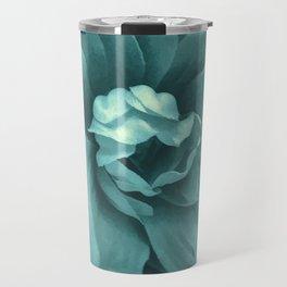 Soft Teal Flower Travel Mug