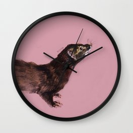 Save the european Mink !!! (FIEB) Realistic (c) 2017 Wall Clock