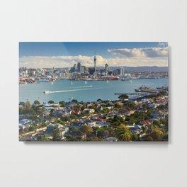 Auckland city New Zealand landscape Metal Print