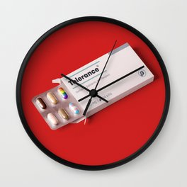 Tolerance pills Wall Clock