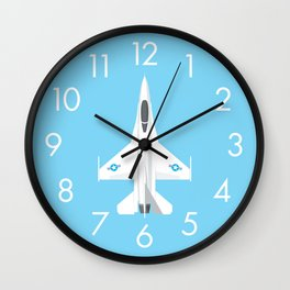 F-16 Falcon Fighter Jet Aircraft - Sky Wall Clock