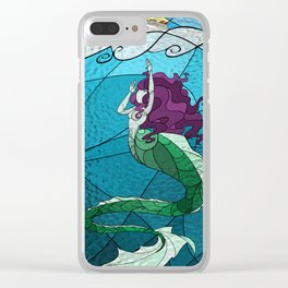 Primeval Mermaid Clear iPhone Case