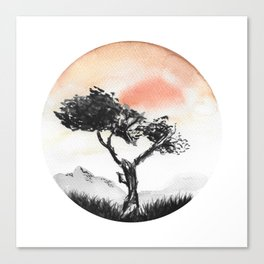 Orange Desert Canvas Print