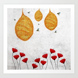 The Dance of the Honeybee Art Print