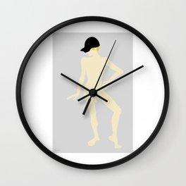 Male Nude Creme 08 Wall Clock