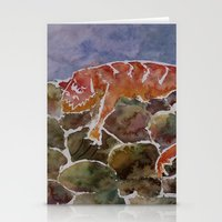 lizard Stationery Cards featuring lizard by rysunki-malunki